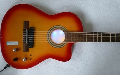 Nylon string guitar with hexaphonic pickup